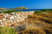stock photo of poseidon  - Cape Sounion located 69 kilometres of Athens Greece  - JPG