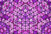 Dynamic Colorful Polygonal Radial Triangle Mosaic Background - Psychedelic Circular Hypnotic Vector  poster