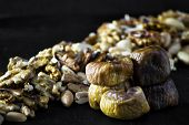 Dried Figs And Dried Fruit With Peanuts And Walnuts poster