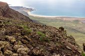 Panoramic View From Viewpoint Mirador Del Rio At The North Of Canary Island Lanzarote, Spain poster