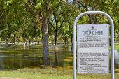 pic of cortez  - Monsoon season flood in Cortez park - JPG