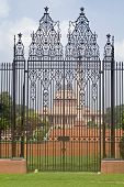 stock photo of rashtrapati  - Wrought iron gates to Rashtrapati Bhavan  - JPG