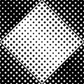 Seamless Square Pattern Background - Abstract Black And White Vector Graphic Design From Diagonal Sq poster