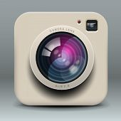 White photo camera icon