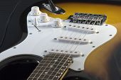 pic of stratocaster  - Closeup of electric guitar Stratocaster - JPG