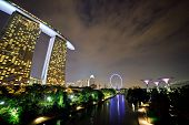 Nightscape of Marina Bay Sand