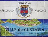 picture of west indies  - gustavia sign - JPG
