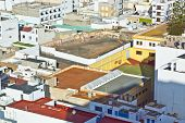 picture of urbanisation  - white houses in Arrecife lanzarote on a sunny day - JPG
