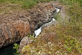 stock photo of taimyr  - Rocky canyon of the mountain river - JPG