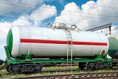 stock photo of railroad car  - railroad tank car - JPG
