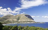 The Gulf of Mondello and Monte Gallo. Palermo, Sicily.