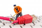 stock photo of crime solving  - workers - JPG