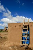 picture of pueblo  - Houses in Taos Pueblo in New Mexico USA - JPG