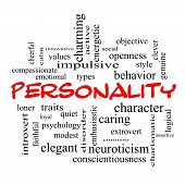 foto of compassion  - Personality Word Cloud Concept with great terms such as cheerful character behavior and more - JPG