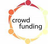 Постер, плакат: Crowd Funding People Circle Concept