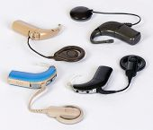 foto of deaf  - Different Cochlear implant divices for deaf persons  - JPG