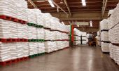 stock photo of raw materials  - the storage facilities for raw material supplies - JPG