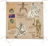 picture of aborigines  - Hand drawn vectors from the series - JPG