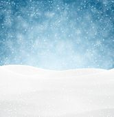 picture of glitter sparkle  - Winter background with snow - JPG