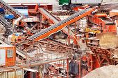 image of sand gravel  - Quarry crusher plant in sand and gravel procuction - JPG
