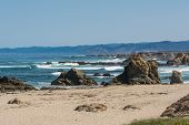 foto of mendocino  - A view of a beach in Fort Bragg in California