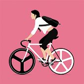 foto of bicycle gear  - Cyclists and fixed gear bicycle Vector and Illustration - JPG