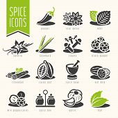 stock photo of mixture  - Quality set of icons that can be used for Spice - JPG