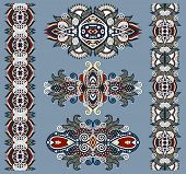 image of adornment  - ornamental floral decorative ethnic adornment - JPG