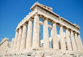 picture of parthenon  - Famous Parthenon temple in the Acropolis Athens Greece - JPG