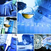 stock photo of gene  - Lab Collage - JPG