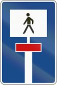 picture of walking dead  - German traffic sign - JPG