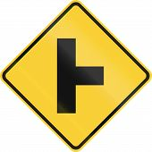 picture of intersection  - United States road warning  - JPG