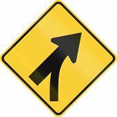 image of merge  - US road warning sign  - JPG