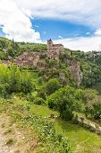 pic of naturel  - Village of Saint Circ Lapopie in France on a sunny day - JPG