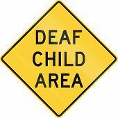 foto of deaf  - US road warning sign - JPG