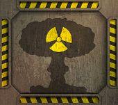 Постер, плакат: frame radiation sign nuclear explosion