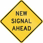 picture of traffic signal  - US warning traffic sign - JPG