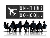 picture of punctuality  - On Time Punctual Efficiency Organization Management Concept - JPG