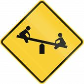 stock photo of warning-signs  - United States road warning sign  - JPG