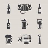 foto of guinness  - Beer vector icons set bottle - JPG