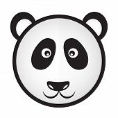 pic of panda bear  - black and white panda bear head eps10 - JPG
