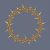 picture of adornment  - An illustration of a crown of thorns adorned by Jesus Christ at his crucifixion - JPG
