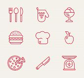 pic of baste  - cookery kitchen icon bast set best illustrations in a modern style - JPG