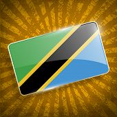 pic of civil war flags  - Flag of Tanzania with old texture - JPG
