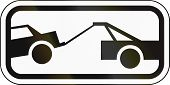 picture of towing  - United States traffic sign - JPG
