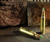stock photo of piercings  - Green tipped cartridges that some consider armor piercing - JPG