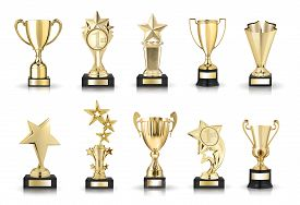 stock photo of trophy  - photos collection of stars awards and trophy cups - JPG
