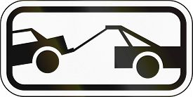 image of towing  - United States traffic sign - JPG