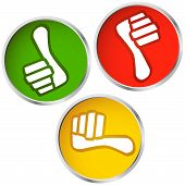 pic of yes  - colored buttons with thumbs up and down for yes and no - JPG