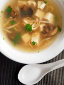 picture of soya beans  - Thai soup with tofu and soya beans - JPG